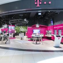 Telekom üzlet dekorálás - Zágráb