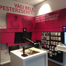 Telekom üzletek országos dekorációja