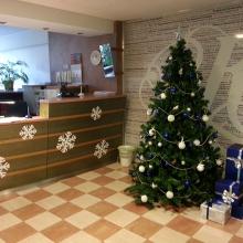 Budapesti Kereskedelmi és Iparkamara karácsonyi dekorációjának tervezése és kivitelezése