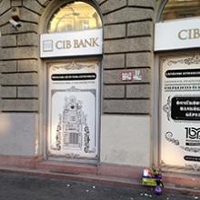 CIB Bank portáldekoráció