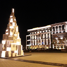 Művészetek Palotája - karácsonyfa kihelyezés