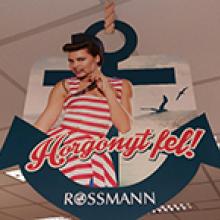 Rossmann plafonbelógók - üzletdekoráció
