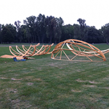 Sziget Fesztivál tojás pihenők installációja a Hellowood megbízásából