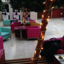 Telekom székház karácsonyi dekoráció