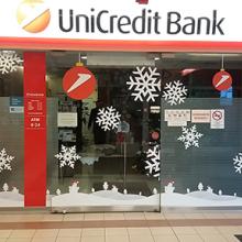 Unicredit Bank karácsonyi dekoráció