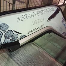 West End mozgólépcső dekoráció - Geox